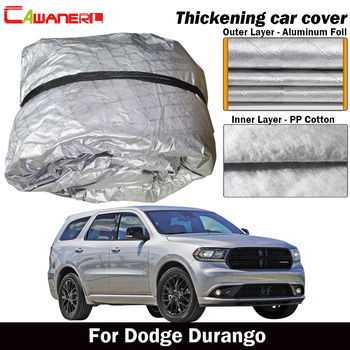 Cawanerl For Dodge Durango Three Layer Thick Car Cover Waterproof Sun Rain Snow Hail Prevent Cover Dust Proof
