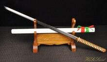 Handforged japanese Sword Samurai Katana folded steel Pattern Blade Sharp Edge