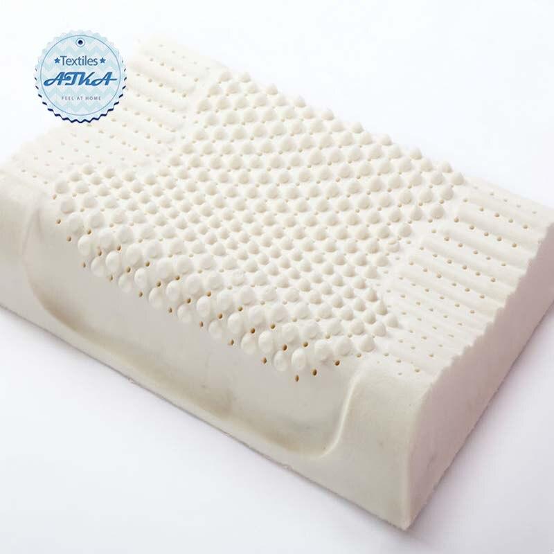 memory foam bedding pillow cervical health care orthopedic natural latex neck contoured. Black Bedroom Furniture Sets. Home Design Ideas