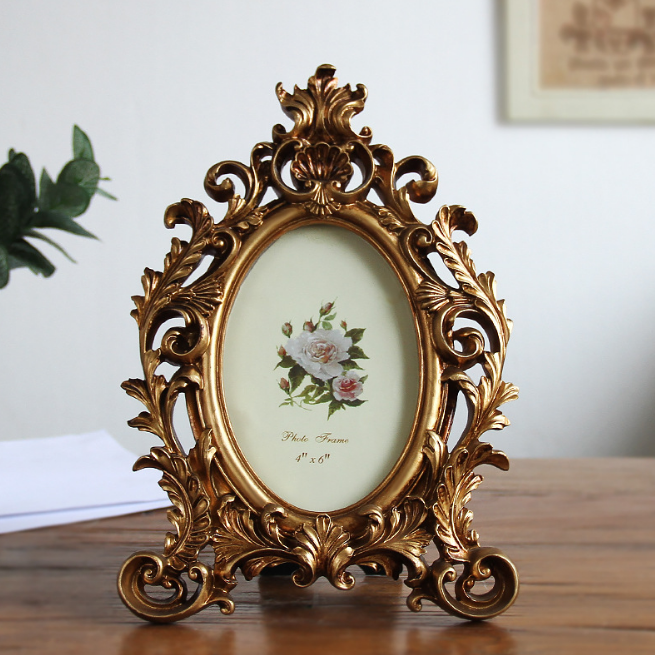 Photo Frame Vintage Oval Picture