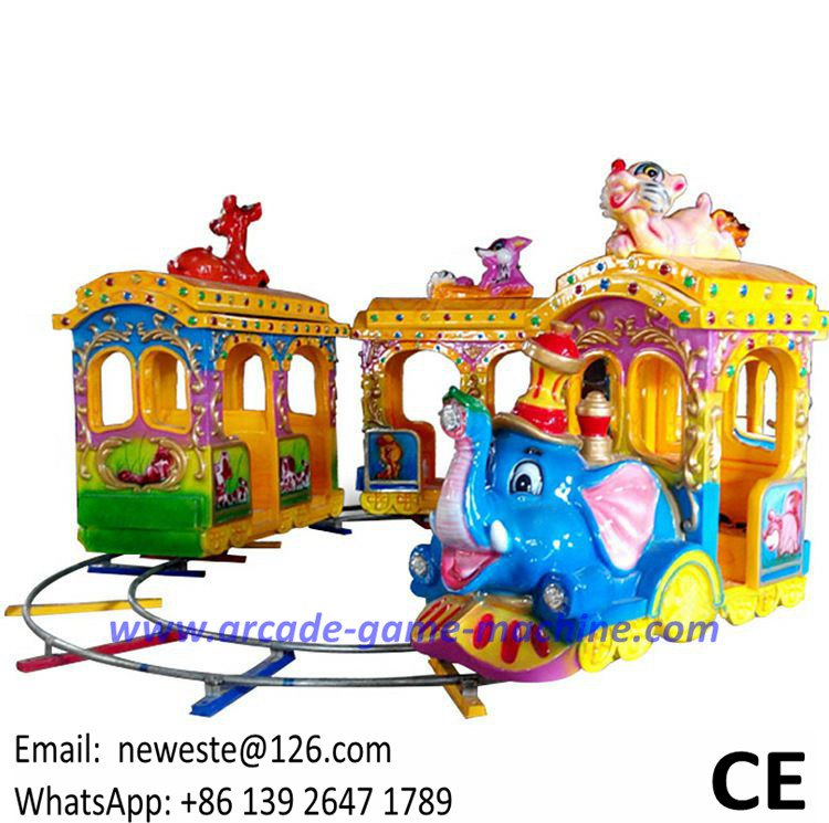 16 Players Lovely Elephant Game Machines Amusement Park Equipment Electric Trains Kiddie Rides For Sale