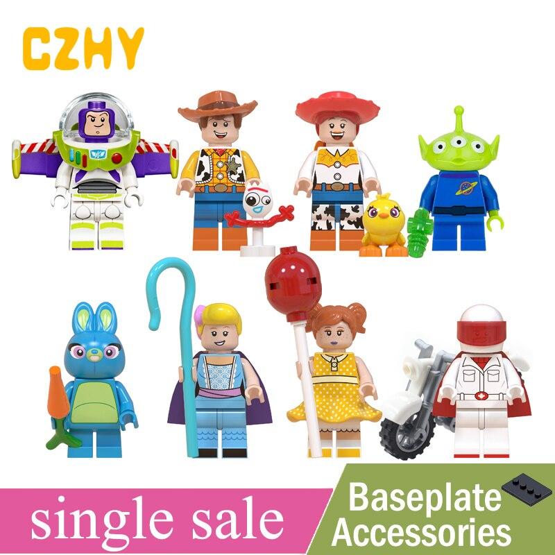 Toys Story 4 Figures Buzz Lightyear Woody Jessie Alien