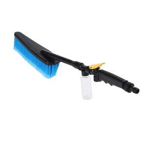 Image 3 - 洗車ブラシ自動車外装格納式ロングハンドル水流スイッチ泡ボトル車のクリーニングブラシ