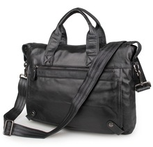 2018 Brand Business Men Briefcase Bag Genuine Leather Black Luxury Designer 15 inch Laptop Office Large Capacity
