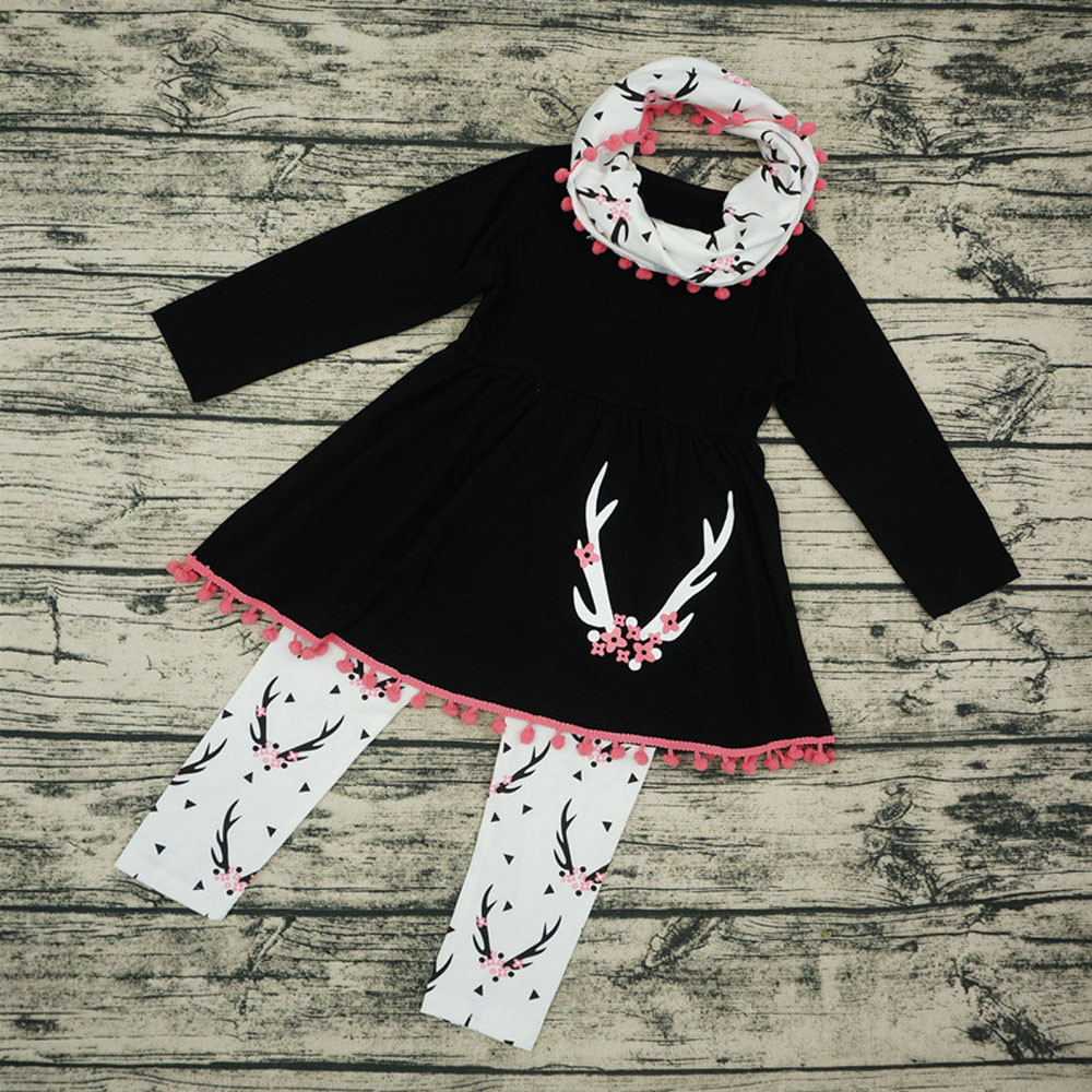 Girls' Clothing Clothing Sets Sweet Pullover Long Sleeve Clothes Set For Toddler Girl Cute Bowknot Good Quality Clothles Conjunto Menina 5st9
