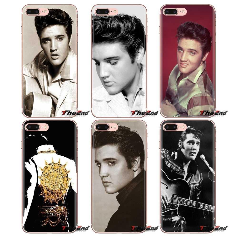 popular Musician Elvis presley Soft Housing Case For Sony Xperia Z Z1 Z2 Z3 Z5 compact M2 M4 M5 C4 E3 T3 XA Huawei Mate 7 8 Y3II
