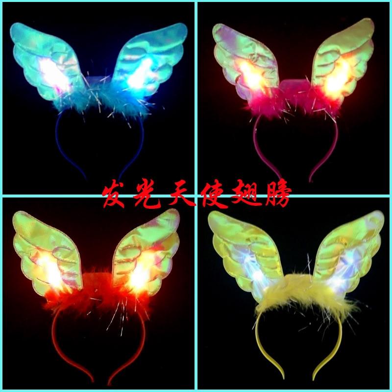 New Year Spring Festival light headdress hairpin angel flash angel hair hoop head hoop bar ball