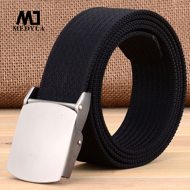 MEDYLA HOT Luxury Mens Belts 2018 Real Marcas Belt Fashionable Classic Brand Pin Buckle Strap Brand Cinto Masculino  Canvas