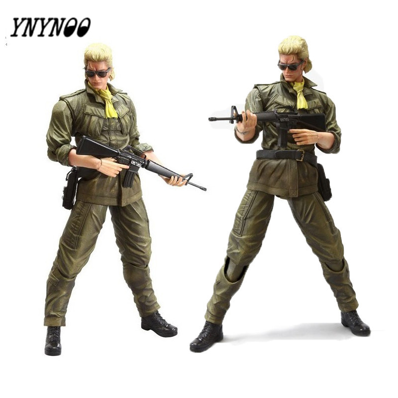 YNYNOO Toys figures Peace Walker Miller Play Arts Kai PVC Toys 260mm Anime Metal Gear Peace Walker model toy soldiers AF074 bwimana aembe reintegration of ex child soldiers for a peace process