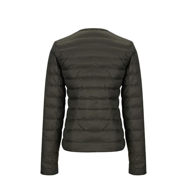 NewBang Matt Fabric Light Jacket Female Ultra Light Down Jacket Women Slim Windbreaker Without Collar Lightweight Warm Coat 3