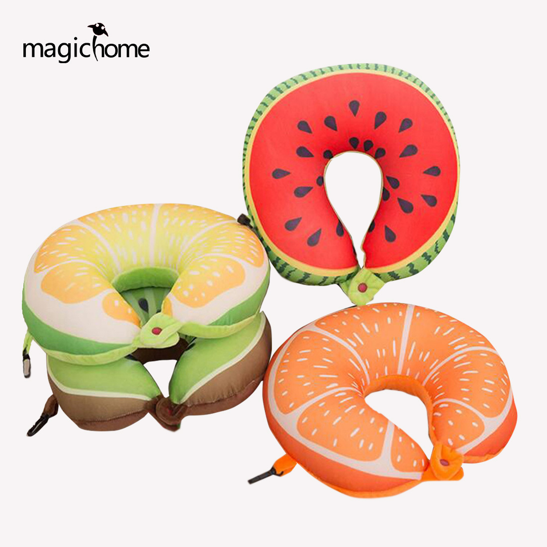 Hot Sale Fruit U Shaped Travel Pillows Neck Protection Pillow Soft Nanoparticles Massage Cute Cushion Home Textile Decor Garden Pots & Planters