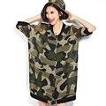 2016 Nova Primavera e no Verão As Mulheres Chiffon Cardigan Roupas de Camuflagem Casuais Solta Mulher Das Senhoras com Ar-condicionado Camisa ST074