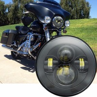 Motorbike Accessories 7 inch Headlamp with Angel Eye Harley Softail Touring Trike Projector 7 Inch LED Headlight
