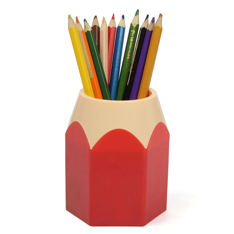 1Pcs Multifunction Pen Vase Pencil Pot Makeup Brush Holder Stationery  Container Desk Tidy pen Holders School Office Supplies-in Pen Holders from  Office ...