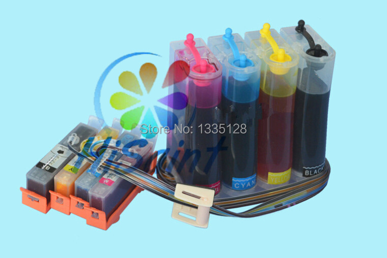 ФОТО 1 set full ink  auto chip CISS for HP 564 for 564 XL for HP564XL for HP 4620 5515 5522 5525 3522 E5445 D5460  Ink Supply System