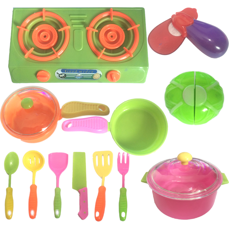 Educational Kids Toys 3 Years Combination Classic Pretend Children Play Kitchen Set Utensil Cooker Playset Cooking Toys For Kids