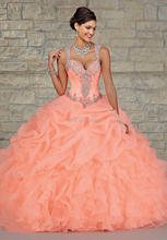 Custom Made font b Dress b font For 15 Years Beading Crystal Ruffles Ball Gown Quinceanera