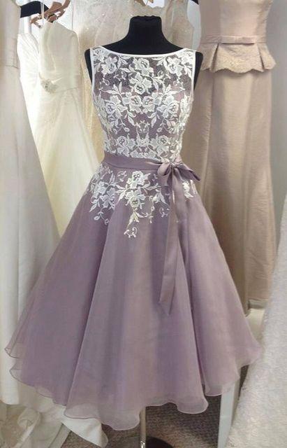 cb56c1b7693 Deep Purple Sleevless Boat Neck Lace Short bridesmaid Dress Custom Made  Satin Belt Knee-Length Party Dresses