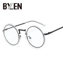 5cd717ac4854 BYLEN Vintage Round Rimless Eyeglasses Frames Women Brand Designer Retro  Gold Plain