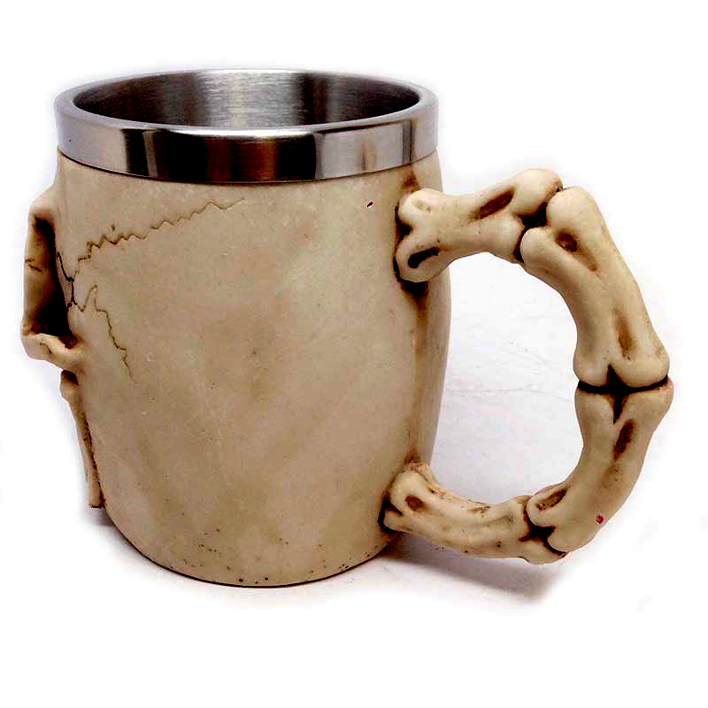 3D Realistic Skull Mugs Double Wall Stainless Steel Mug Cup Horror Big Skull Geek Coffee Beer Cup Cool Christmas Gift With Box 5