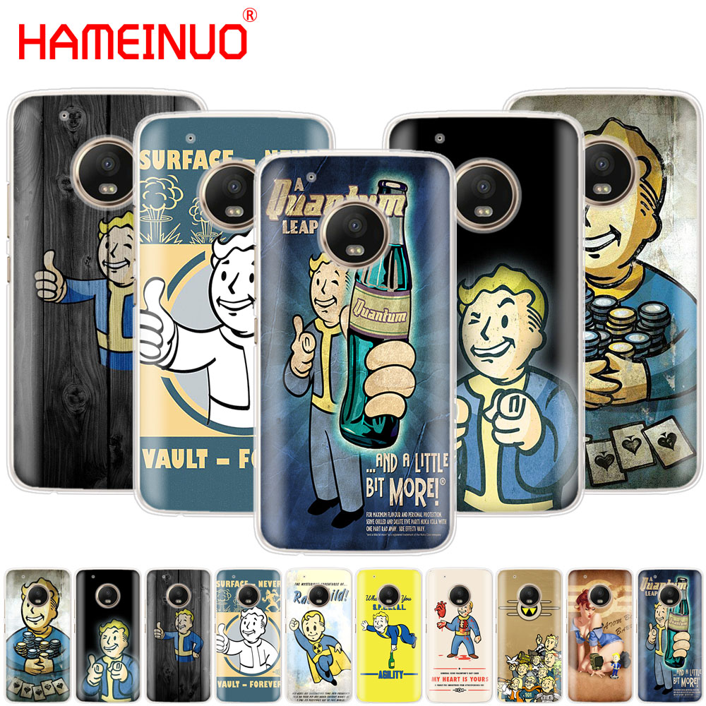 HAMEINUO Black Isle Studios game Fallout case phone cover For Motorola Moto X4 E4 C G6 G5 G5S G4 Z2 Z3 PLAY PLUS