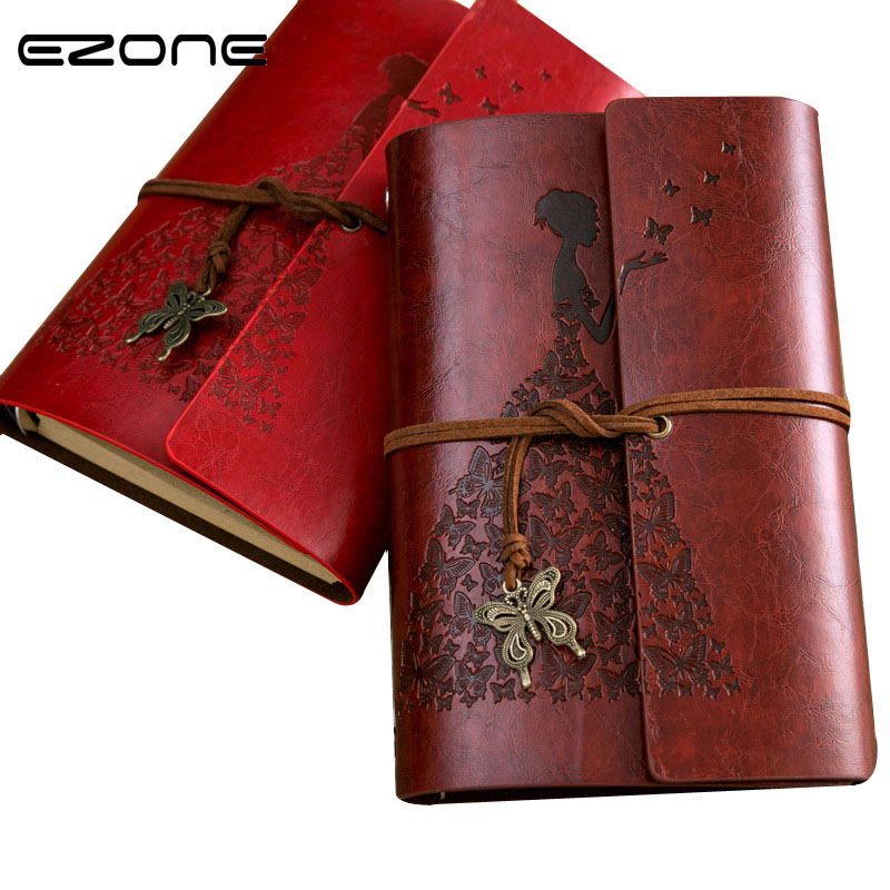 EZONE Vintage Butterfly A6 PU Leather Diary Book