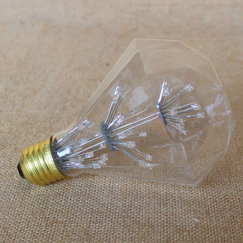 G95 G80 ST64 220V Ретро лампа пиротехническая Светодиодная лампа Эдисона накаливания угольная лампа Ampul рождественские украшения для домашнего освещения