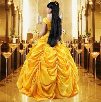 princess belle beauty and the beast Fancy Dress Cosplay Costume adult halloween costumes for women bell plus size carnival