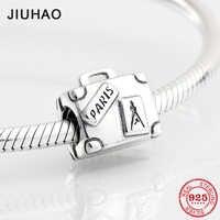 Mode femmes 925 argent Sterling Paris sac à main forme perles pour la fabrication de bijoux Fit Original bracelet à breloques Pandora 2018