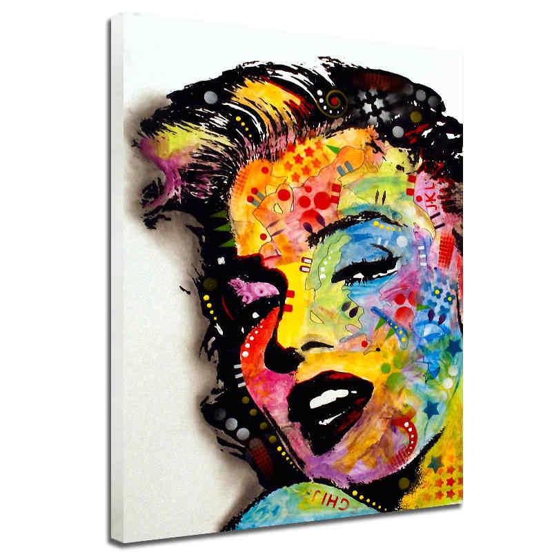 مجردة مارلين مونرو قماش اللوحة HD طباعة الجمال امرأة جدار الصورة ل غرفة المعيشة المنزل الديكور
