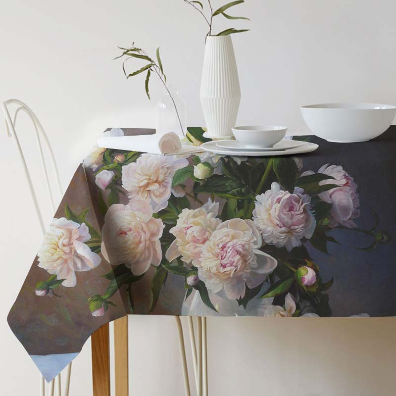 Tablecloth for table Zbigniew Kopania Painting Art Cotton linen tablecloth Ink Home Protection and decoration Elegant Table cove