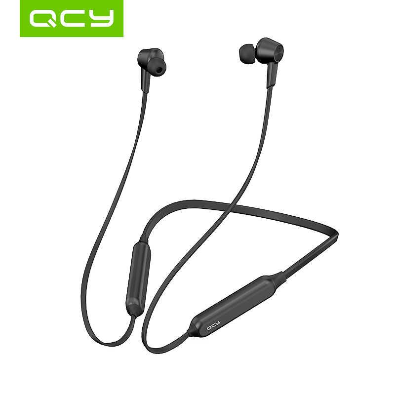 QCY L2 Headphone Nirkabel IPX5 Tahan Air ANC Kebisingan Membatalkan Wireless Earphone Bluetooth 5.0 Sport Headphone dengan MIC