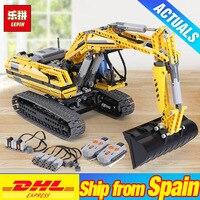 DHL LePin 20007 техника моторизованный экскаватор 8043 строительные блоки кирпичи DIY 20008 L350F колесный погрузчик 42030 детские игрушки