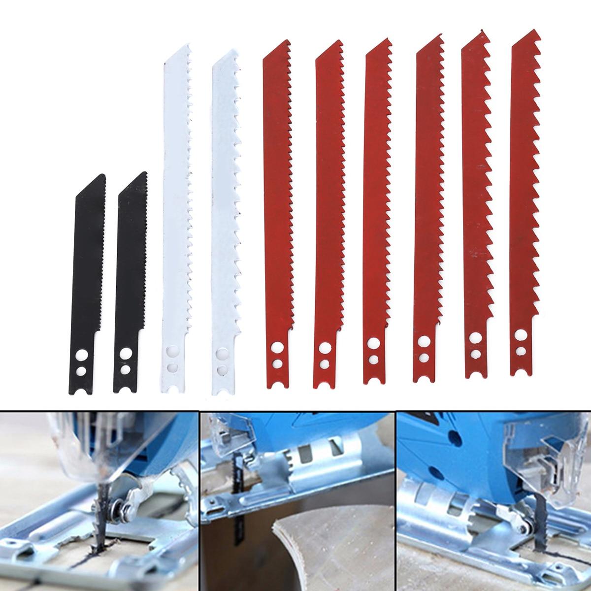 10pcs Durable Jigsaw Blades 60/97mm Jig Saw Blades Set For Cutting Metal Plastic Wood Power Tools