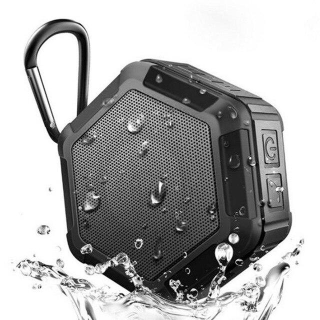 Mini caixa de som portátil para bicicleta, alto falante esportivo sem fio à prova d'água ip65 para chuveiro e telefone, caixa de música