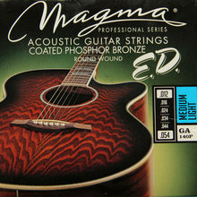 MAGMA 120 years of production history Acoustic guitar strings COATED PHOSPHOR BRONZE GA140P( .012-054) Medium Light