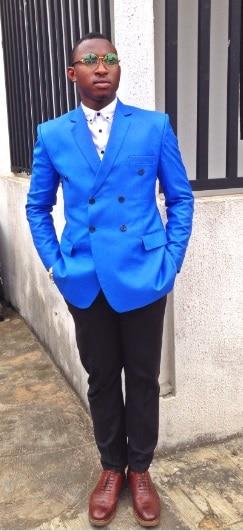 2017 последние пальто брюки дизайн Королевский синий мужской Нарядные Костюмы для свадьбы Slim Fit смокинг жениха 2 шт. Пользовательские Пром Бле...