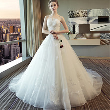 RiLynda Vestido De Novia 2018 Royal Train Wedding Dresses