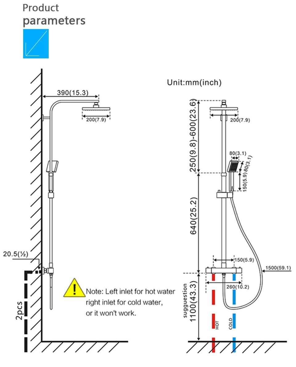 HTB1m7MQQsfpK1RjSZFOq6y6nFXaC Senducs Thermostatic Shower Set White Gold Bathroom Shower System Quality Brass Bathtub Faucet Newly Intelligent Gold Shower Set