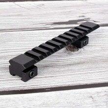 Крепление для прицела от 11 мм до 20 мм Пикатинни адаптер Вивер рельс 10 слотов 124 мм длина для охотничьей винтовки Воздушный пистолет прицел лазерный