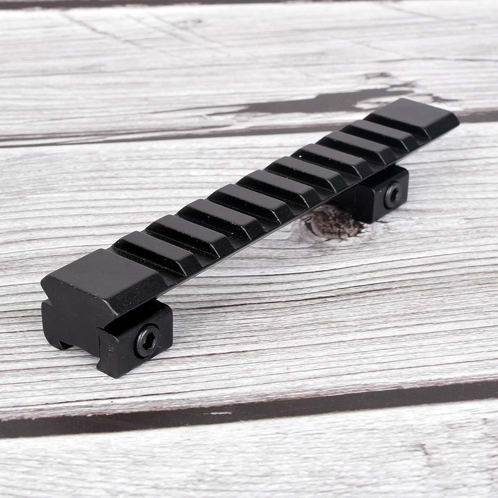 Scope Mount 11mm To 20mm Picatinny Rail Adapter Weaver Rail 10 Slots 124mm Length For Hunting Rifle Air Gun Scope Laser