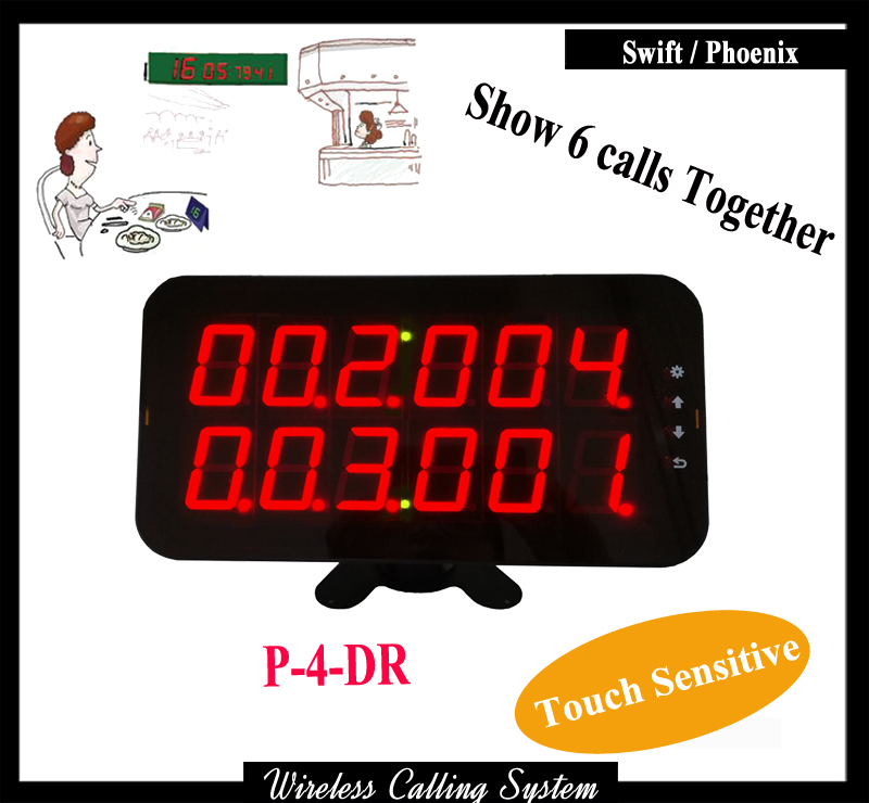 Wireless Waiter Display Receiver For Restaurant Wireless queuing system wireless pager system 433 92mhz wireless restaurant table buzzer with monitor and watch receiver 3 display 42 call button