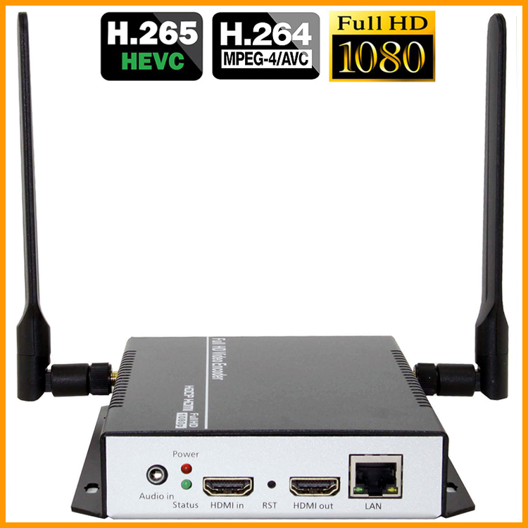 DHL Ücretsiz Nakliye H.265 H.264 HDMI Video Ses Wifi Kodlayıcı - Ev Ses ve Video