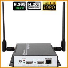 DHL Бесплатная доставка H.265 H.264 HDMI видео аудио кодировщик Wi-Fi IP RTSP RTMP ONVIF HDMI кодировщик H265 для потоковая трансляция в прямом эфире