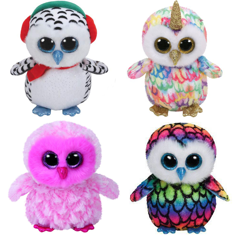 "Pyoopeo Original Ty Boos Owl 6"" 15cm Twiggy Yago Owen Oscar Enchanted Nester Plush Regular Stuffed Animal Collection Doll Toy-in Stuffed & Plush Animals from Toys & Hobbies"