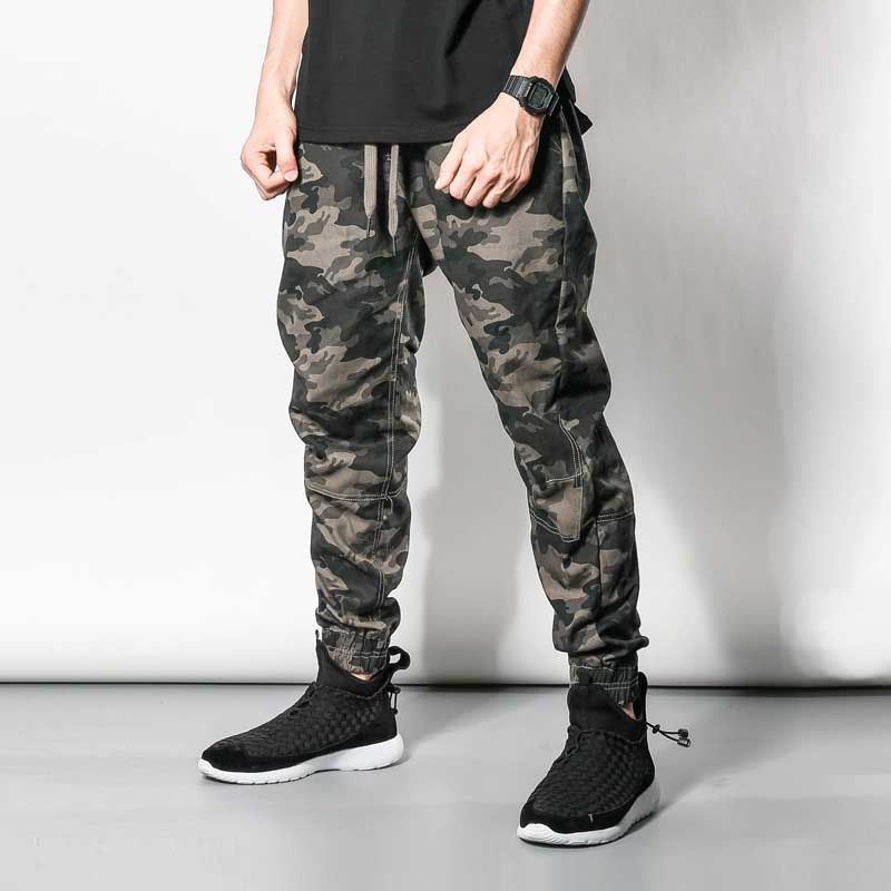Military Army Fans Mens Casual Jogger Pants Cotton Camouflage Hip Hip Harem Pants Taper Male Trousers Elastic Waist Man Clothes