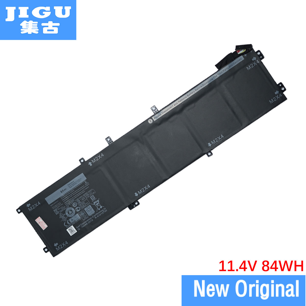 JIGU 11.4V 84WH Original Laptop Battery 1P6KD 4GVGH RRCGW For DELL For Precision 5510 XPS 15 9550 XPS15 9550 image