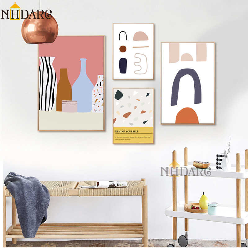 Nordic Modern Abstract Decorative Paintings Canvas Print Painting Poster Art Fashion Simplicity Wall Pictures for Home Decor