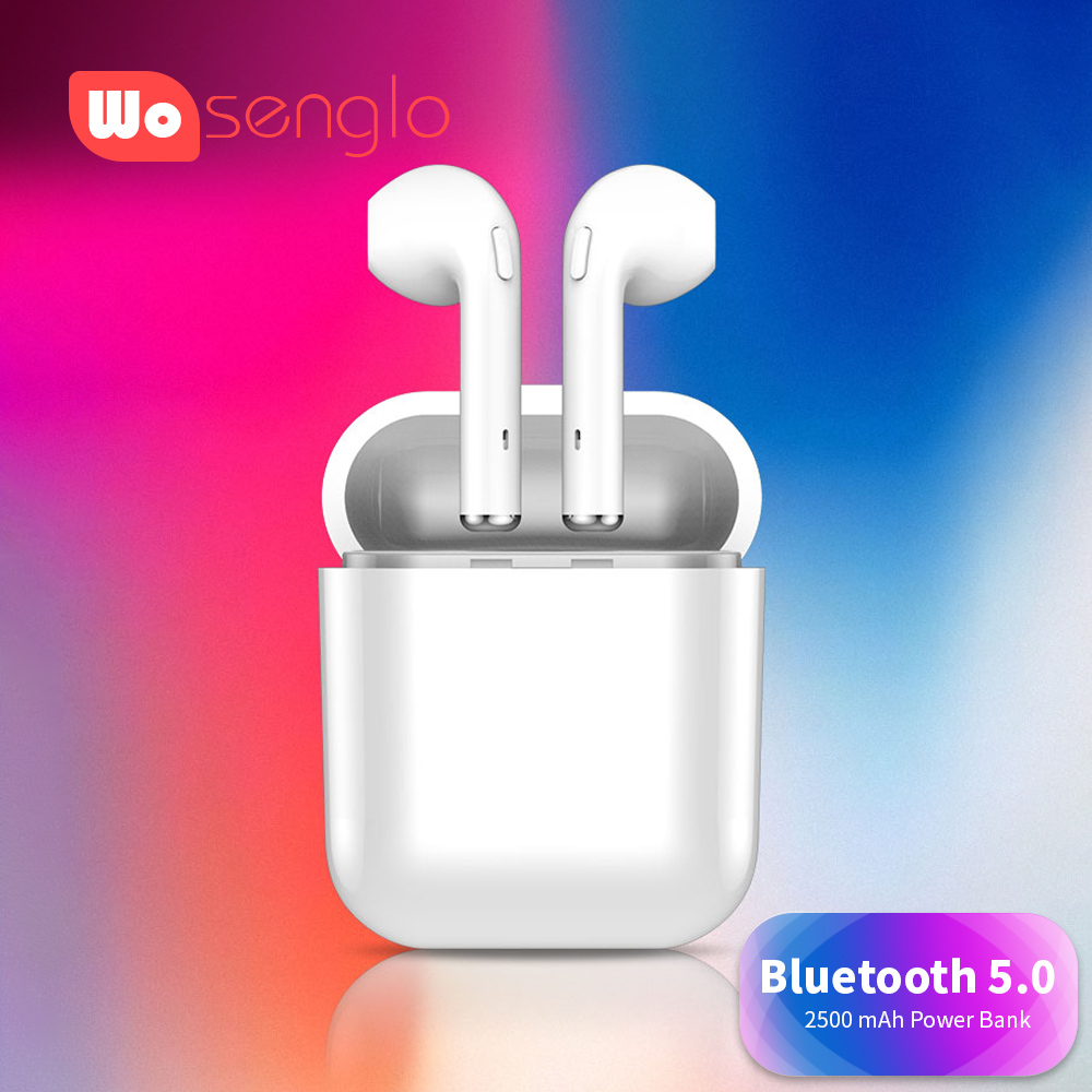 все цены на Bluetooth 5.0 Headset Wireless Earphones 2500mAh Power bank Headphone Binaural calls Earbuds For Samsung Xiaomi Huawei Samsung онлайн