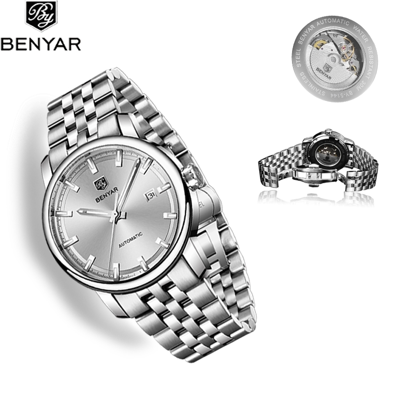 BENYAR 2019 New Men's Watches Classic Mechanical Watch Men Automatic Watch men Wristwatch Waterproof Clock Man Relogio Masculino